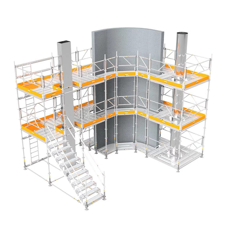 Buckle scaffolding